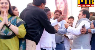 PTB Big Political Newsmadhya pradesh assembly election fight of congress leaders in front of nagma in shivpuri