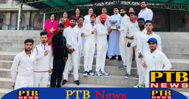 Trinity college cricket team trophy win Jalandhar