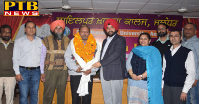 Mr. Ranjit Rana, employee of Lyallpur Khalsa College, after 43 years of service