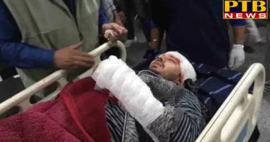 PTB Big Crime Newsjalandhar news attack on father shashi sharma and son near jalandhar bus stand