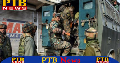 PTB Big Breaking Newspulwama encounter two militants killed during gunfight with forces in jammu-kashmir