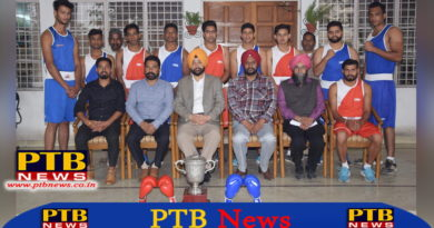 Lyallpur Khalsa College Jalandhar students First Place in Boxing Competition