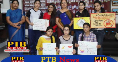 Organized poster making, Green Diwali and essay writing in SD College for Women