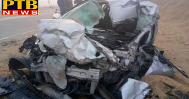 PTB Big Accident Newscar accident due to fog during return marriage four people killed