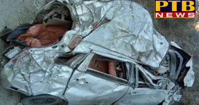 PTB Big Accident News himachal pradesh shimla car skid off the highway in shimla four dead 2 injured breaking