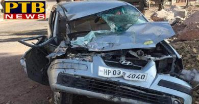 PTB Big Accident Newshimachal pradesh painful car accident in solan CM Jairam Security