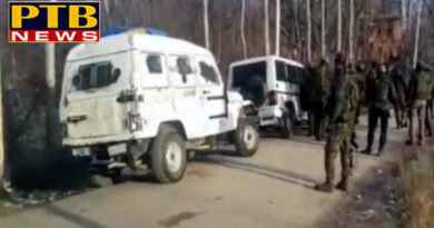 PTB Big Breaking Newsjammu encounter underway between security forces and terrorists in pulwama district