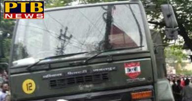 PTB Big City NewsArmy truck and car collisionArmy police truck recovers three injured Jalandhar