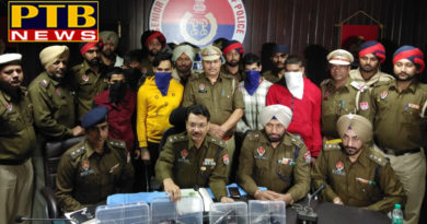 PTB Big Crime News arrested accused including arms in jalandar Gangster sukka kahelwan gang