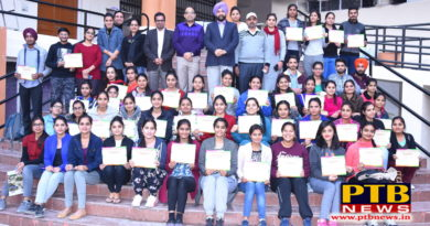 Two-day workshops of the Physiotherapy Department of Lyalpur khalsa College Jalandhar