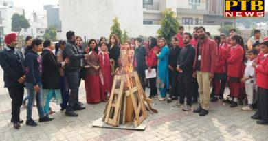 "PTB News ""शिक्षा""Students of GD Goenka International School Jalandhar celebrated Lohri festival"