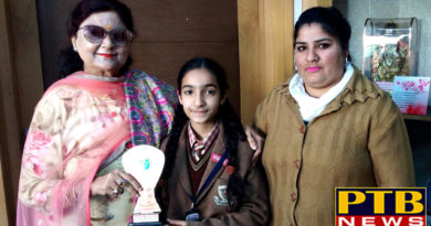 """PTB News """"शिक्षा""""St Soldier Student Pavni is Shining the name with her Singing Talent"""
