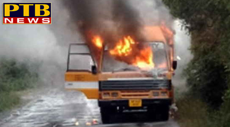 PTB Big Breaking News himachal news arny univercity staff bus in fire no cagulety