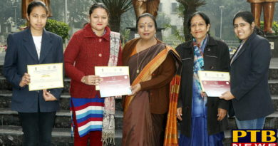 """PTB News """"शिक्षा""""HMV Collegiate Students participated in National Indian Science Congress"""