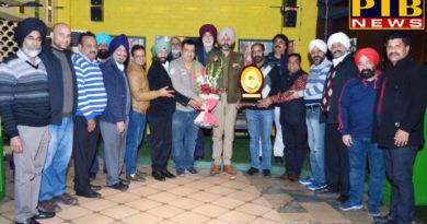 PTB Big City NewsModel Town Shopkeeper Welfare Association honored SHO at Jalandhar