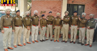 PTB Big City News DSP becomes Jalandhar's eight police inspectors Police commissioner and DCP batch planted