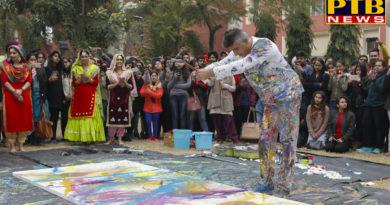 "PTB News ""शिक्षा""3 DAY ART SYMPOSIUM IN APEEJAY College jalandhar"