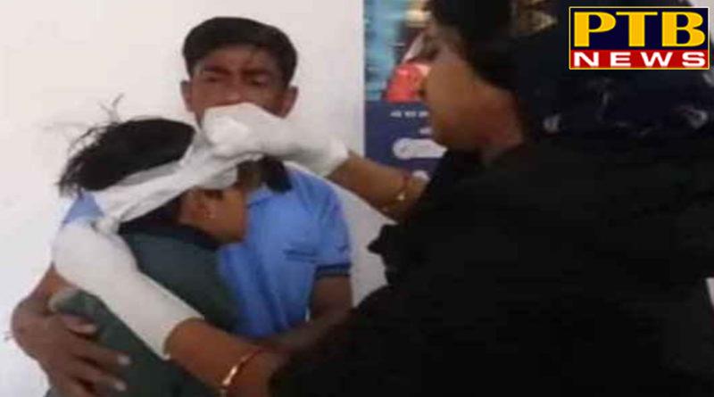 PTB Big Accident Newsrajasthan jodhpur news school bus accident childrens injured pali district busturn down speed