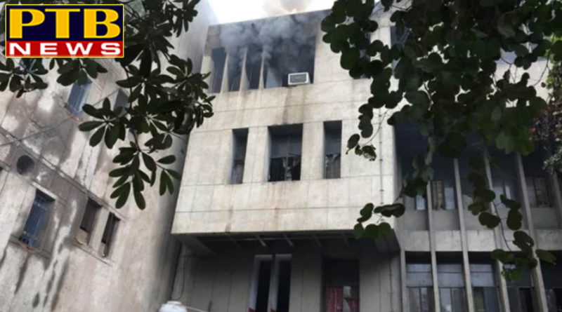 PTB Big Breaking Newsdelhi ncr ghaziabad collectorate building catches fire all updates