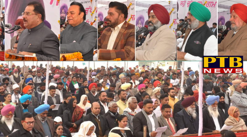 EDUCATION MINISTER OP SONI CALLS UPON NEWLY ELECTED SARPANCHS AND PANCHS TO JOIN HANDS WITH GOVERNMENT FOR HOLISTIC DEVELOPMENT OF VILLAGES
