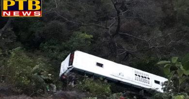 PTB Big Accident NewsHimachal Pradesh himachal pradesh tourist bus dropped to 50 feet deep