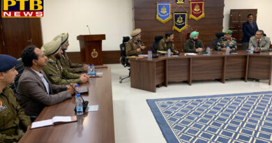 PTB Big Political News Capton Amrinder singh reviews situation with top brass of army, paramilitry& Punjab police in jalandhar