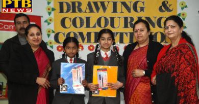 Students of INNOCENT HEARTS SCHOOL filled pictures with their choicest Colours