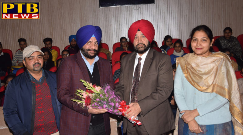 """PTB न्यूज़ """"शिक्षा""""Lecture was organized on Physiotherapy treatment at Lyallpur Khalsa College Jalandhar"""