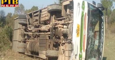 PTB Big Accident News rampant tourist bus 5 people injured in uncontrolled Himachal Pardesh Una DistrictPTB Big Breaking News