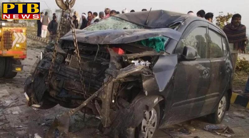 PTB Big Accident Newsuttar pradesh agra road accident in yamuna expressway 7 people dead