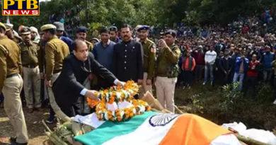 PTB Big Sad Newshimachal pradesh dharamsala funeral of martyr tilak raj union minister jp nadda and cm thakur paid tribute