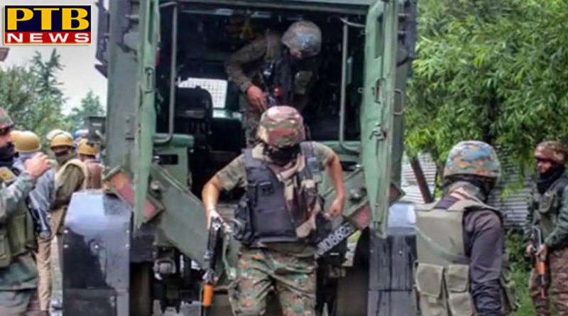 PTB Big Breaking NewsNational search operation of the security forces in the villages of pulwama Jammu KashmirPTB Big Breaking News