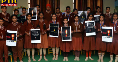 """PTB News """"शिक्षा""""Tribute to Pulwama Martyrs by Students of St Soldier Group"""