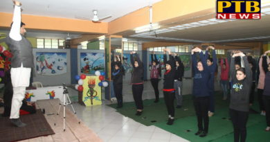 "PTB News ""शिक्षा"" Innocent Hearts College of Eduation organised yoga workshop Jalandhar"