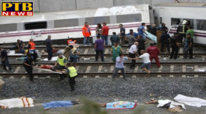 PTB Big Accident News International a terrible accident in spain two trains collide 1 killed 95 injured PTB Big Breaking News