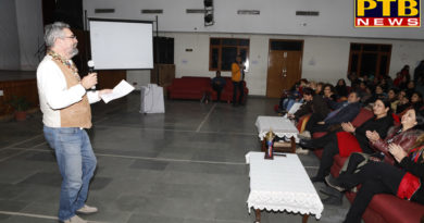 second day of International Art Symposium organized at Apeejay College of Fine Arts, Jalandhar