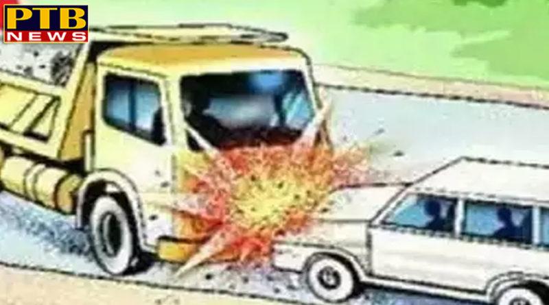 PTB Big Accident Newscar accident rewariHaryanaGroom's car