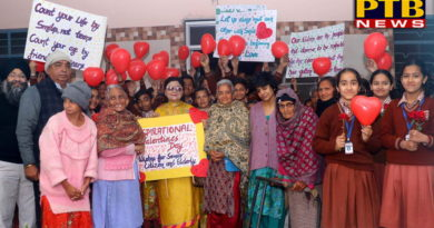 Valentine's Day Celebrated with Residences of Apahaj Ashram by Students of St Soldier Group Jalandhar