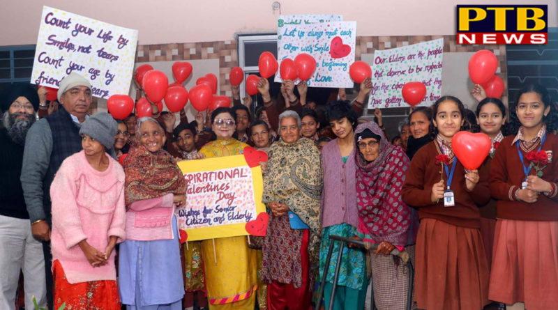 Valentine's Day Celebrated with Residences of Apahaj Ashram by Students of St Soldier Group Jalandhar