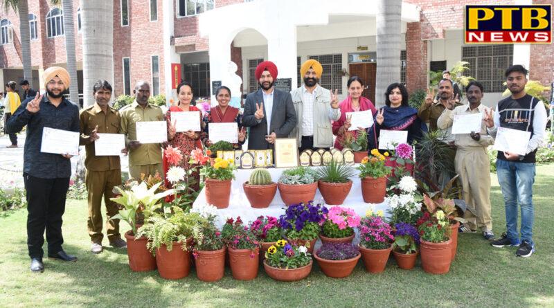 Lyallpur Khalsa College Jalandhar won the award in Flower and Plant Show