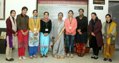 CLEAN SWEEP OF HMV GIRLS IN 1ST 4 POSITIONS OF M.SC (BOTANY)