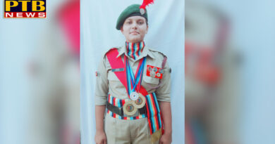 NCC Cadet Anamika of Lyallpur Khalsa College for Women, Jalandhar honoured