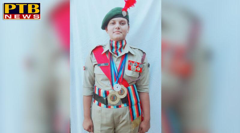 NCC Cadet Anamika of Lyallpur Khalsa College for Women, Jalandhar honoured