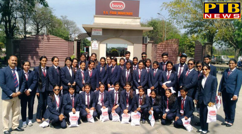 """PTB News """"शिक्षा"""" INDUSTRIAL VISIT FOR MANAGEMENT DEPARTMENT of innocent heart Group students"""