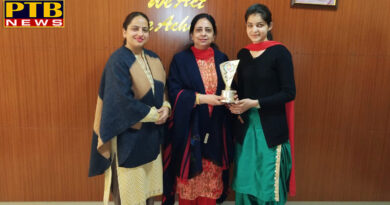 Neha Jassal  of Lyallpur Khalsa College For Women, Jalandhar bagged 2nd Position in University