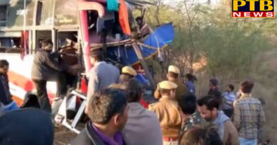 PTB Big Accident News rajasthan pali ahmadabad to pali the death of six people and left 25 others injured in bus accident in rajasthan