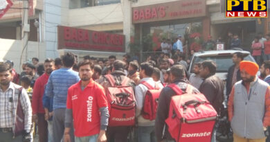 PTB Big City News Jalandhar Baba kitchen workers beat up with delivery boy of Zomato
