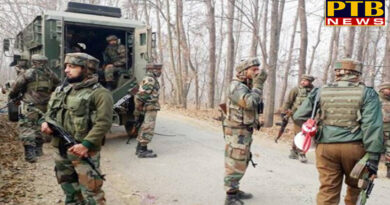 PTB Big Breaking News jammu encounter in babagund kupwara between militants and security forces jammu kashmir PTB Big Breaking News