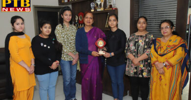 Two students of SD College for Women received the first and second positions in the university examinations