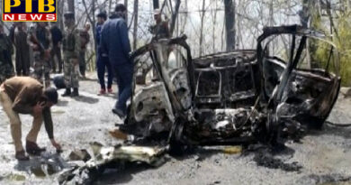 PTB Big Breaking News Mysterious Blast has happened in a car on the Srinagar jammu highway near banihal